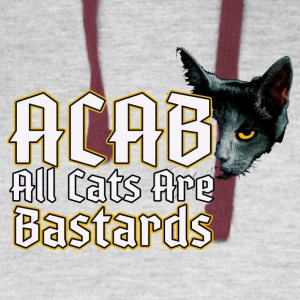 all cats are bastards - ACAB - Colorblock Hoodie