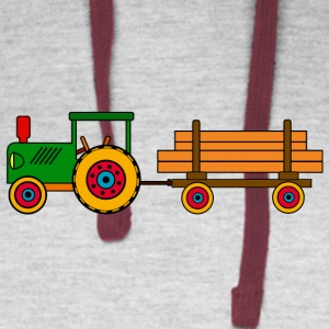toy tractor with trailer - Colorblock Hoodie