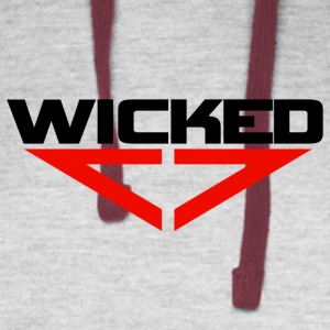 Wicked red - Colorblock Hoodie