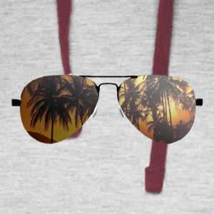 glasses with palm trees - Colorblock Hoodie