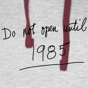 Do Not Open Until 1985 - Colorblock Hoodie
