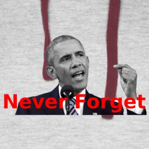 Obama Never Forget - Colorblock Hoodie