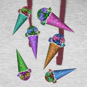 Ice cream cones & cones & cones - Colorblock Hoodie