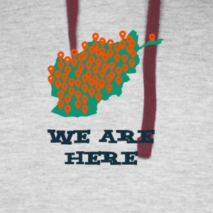 We are here - Colorblock Hoodie