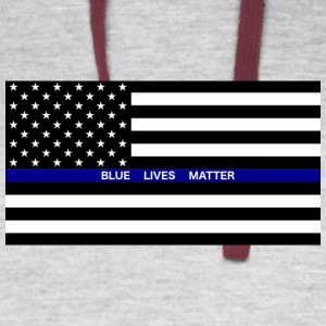 BLUE LIVES MATTER Flag - Colorblock Hoodie