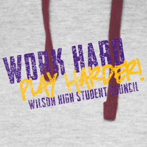 Work Hard Play Harder Wilson High Student Council - Colorblock Hoodie