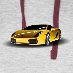 Lamborghini Sports Car Motive - Colorblock Hoodie
