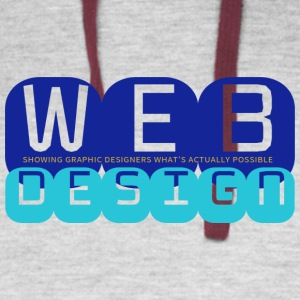 Web Design vs Graphic Design (Royal + Aqua) - Colorblock Hoodie