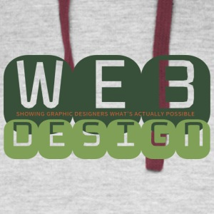 Web Design vs Graphic Design (Camo) - Colorblock Hoodie