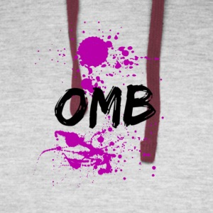 OMB-dripping sauce - Colorblock Hoodie
