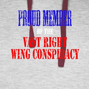 Proud Member of the Vast Right Wing Conspiracy - Colorblock Hoodie