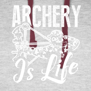Archer Is Life Tee Shirt - Colorblock Hoodie