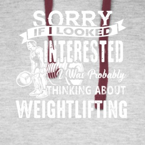 Weightlifting Sorry If I Looked Shirt - Colorblock Hoodie