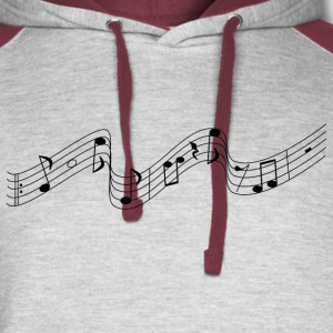 Music notes - Colorblock Hoodie