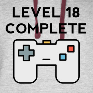Level 18 Complete 18th Birthday - Colorblock Hoodie