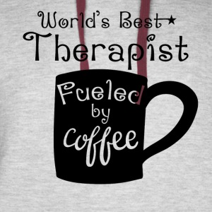 World's Best Therapist Fueled By Coffee - Colorblock Hoodie