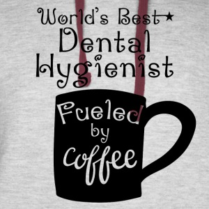 World's Best Dental Hygienist Fueled By Coffee - Colorblock Hoodie