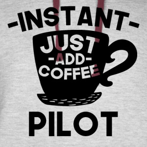 Instant Pilot Just Add Coffee - Colorblock Hoodie