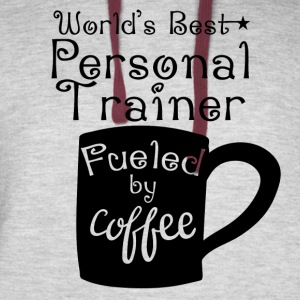 World's Best Personal Trainer Fueled By Coffee - Colorblock Hoodie