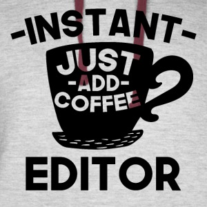 Instant Editor Just Add Coffee - Colorblock Hoodie