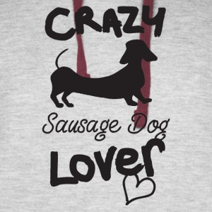 Crazy Sausage Dog Lover - Colorblock Hoodie