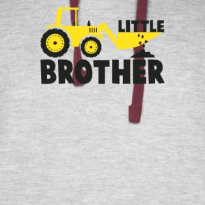 Little Brother Tractor Loving - Colorblock Hoodie
