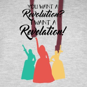 You want a Revolution? - Colorblock Hoodie