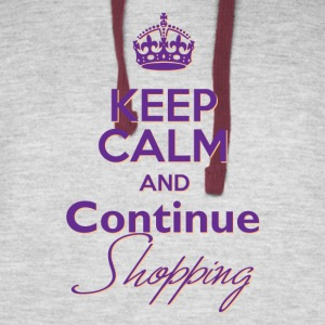 Keep Calm and Continue Shopping - Colorblock Hoodie