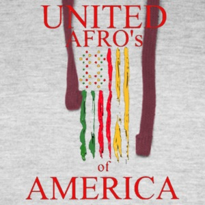 UNITED AFRO'S OF AMERICA - Colorblock Hoodie