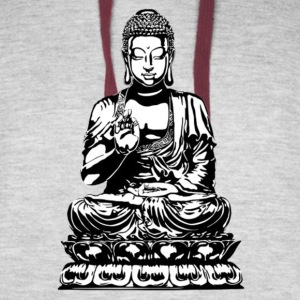 Amazing Buddha design! (Positive income) - Colorblock Hoodie