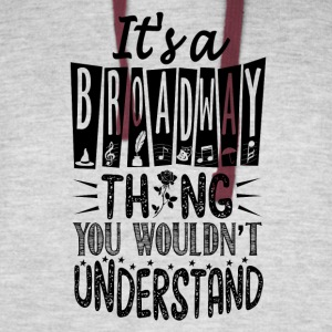 I's a broadway - Colorblock Hoodie