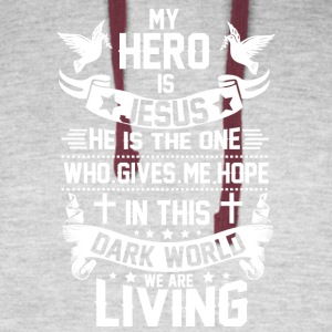 ***JESUS IS MY HERO*** - Colorblock Hoodie