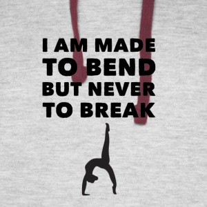 I am made to bend but never break - Colorblock Hoodie