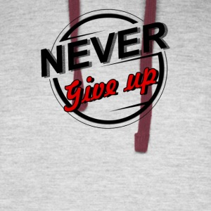 NEVER GIVE UP - Colorblock Hoodie