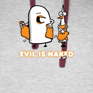 Evil is naked - Colorblock Hoodie