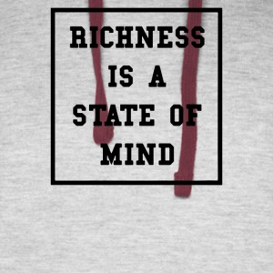Richness Is A State Of Mind - Colorblock Hoodie