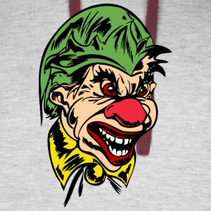 EVIL_CLOWN_38_colored - Colorblock Hoodie