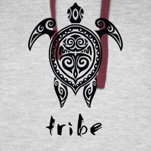 Tribe (Hawaii #2 in Black) - Colorblock Hoodie