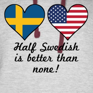 Half Swedish Is Better Than None - Colorblock Hoodie
