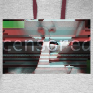 Censored t shirt - Keep silence - Colorblock Hoodie