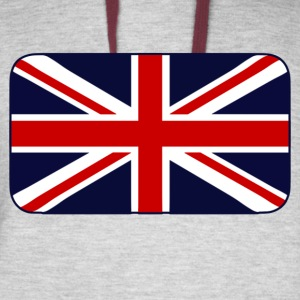 Union Jack Flag of the UK - Colorblock Hoodie