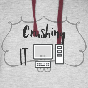 Crushing It T Shirt - Colorblock Hoodie