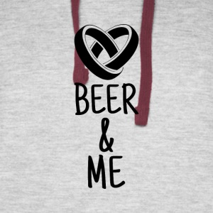 I love Beer. Beer loves me. We´re in this together - Colorblock Hoodie