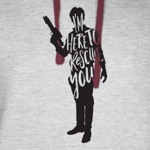 Han Solo quote t shirt design JLane Design Teepubl - Colorblock Hoodie