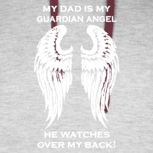 My Dad Is My Guardian Angel Tee Shirt - Colorblock Hoodie