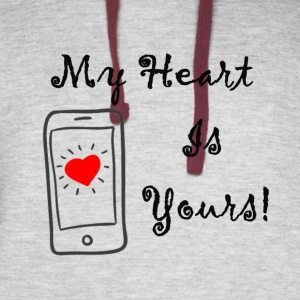 my heart is yours - Colorblock Hoodie
