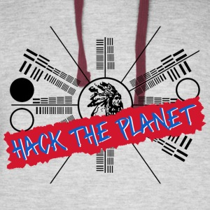 Hack the Planet T Shirt - Colorblock Hoodie