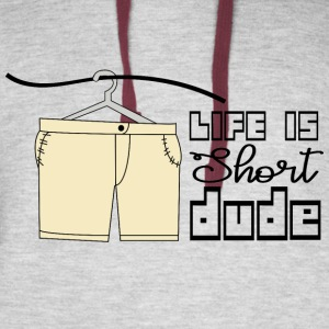 CREATIVE DESIGN || LIFE IS SHORT - Colorblock Hoodie