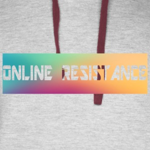 Online Resistance T-Shirts Long Logo - Colorblock Hoodie