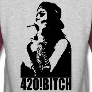 420 ! Bitch - Colorblock Hoodie